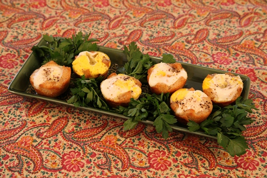 Eggs in Toast Nests