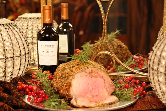 Prime Rib with Herb Blend Crust and Horseradish Sauce