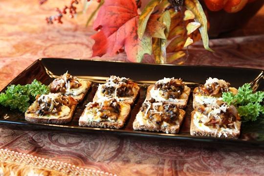 Mushroom Bacon Toasties