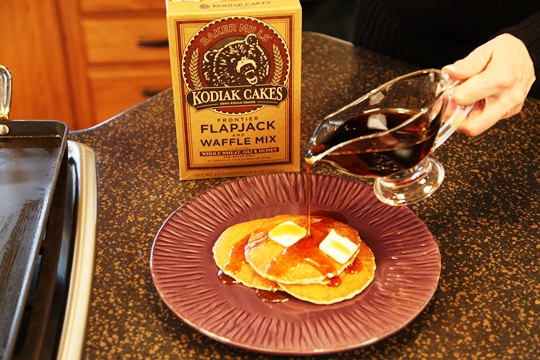 Kodiak Flapjacks with Syrup and Butter