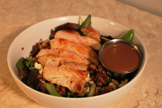 Feta & Walnut Salad with Grilled Chicken