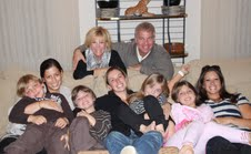 Joan Lunden Family Picture on Couch