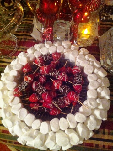 Marshmallow Charger Plates for Your Holiday Dessert Table