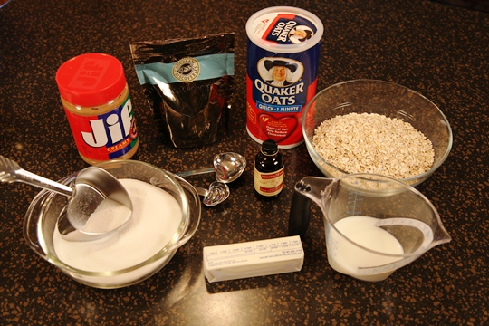 No Bake Cookie Ingredients