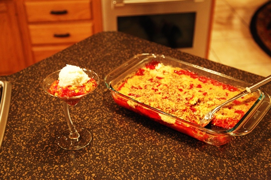 Cherry Cake Pudding Cobbler Recipe