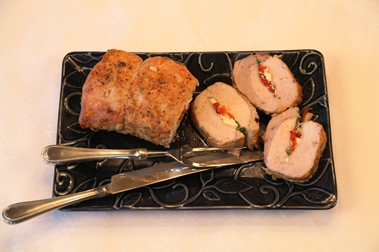 Stuffed and Studded Pork Loin