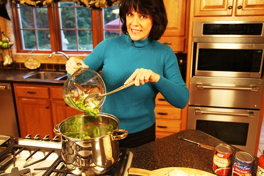 Add green peppers to  Stuffed Green Pepper Soup