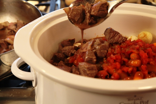 Adding Beef and Bacon to Provencal Beef Stew