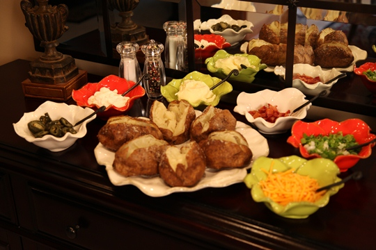 Hickory Farms Features Vickies Baked Potato Bar Ideas