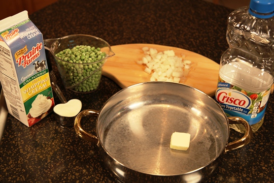 Creamed Peas Ingredients