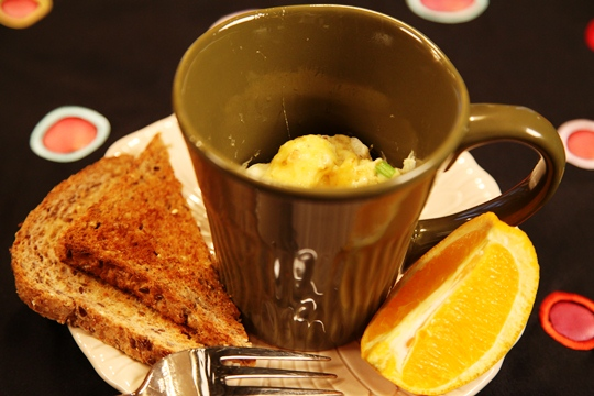 Microwave Mug Recipe for Omelet in a Mug