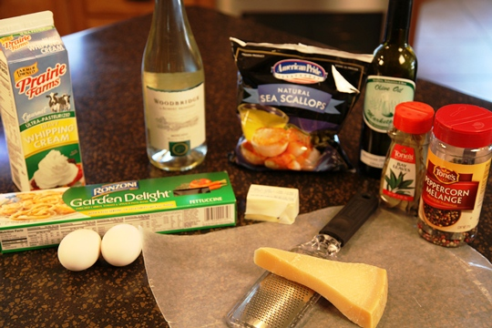 Scallops 'A Moscato Ingredients