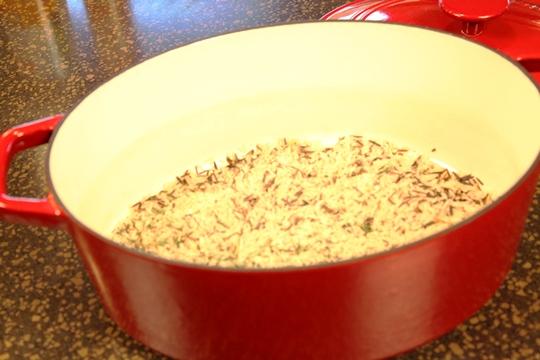 Wild Rice in Casserole