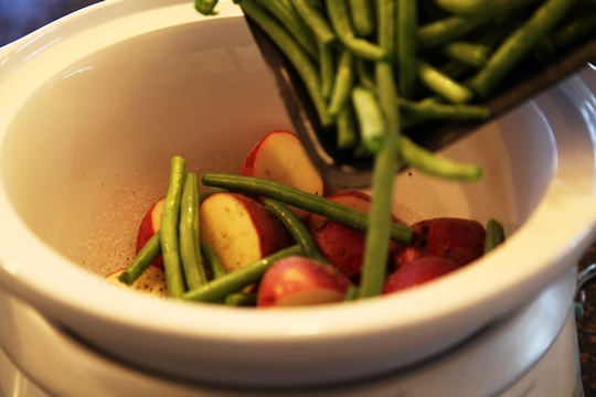 Add Green Beans to Crock Pot