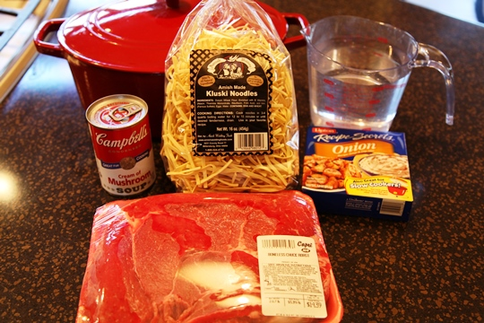 Beef & Noodles Ingredients