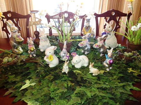Bunny Garden Tablescape Easter Ideas