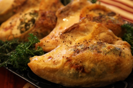 Parsley, Sage, Rosemary and Thyme Baked Chicken Breasts