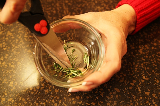 Snip Fresh Rosemary with Kitchen Scissors