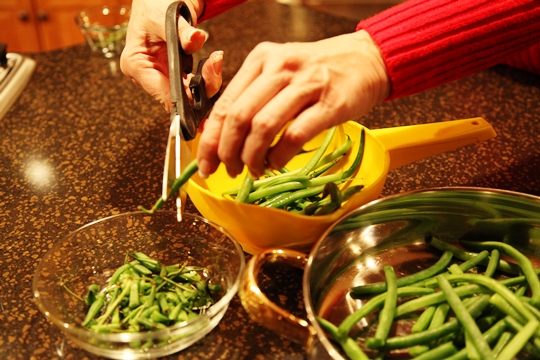 Snipping Fresh Green Beans