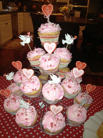 Valentine Cupcake Display