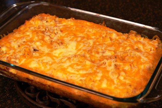 Sunrise Breakfast Casserole Hot out of the Oven