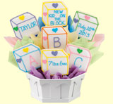 Baby Blocks Cookie Bouquet