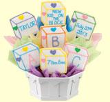 Baby Blocks Cookie Bouquet