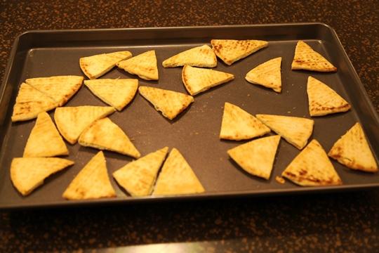 Toasted Pita Bread Triangles