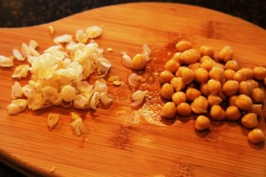 Peeling Garbonzo Beans for Hummus Recipe