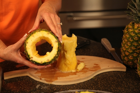 Coring the Pineapple