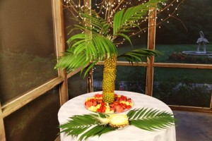 Pineapple Boat and Fruit Display