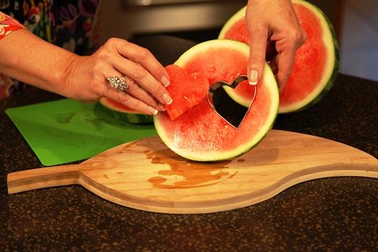 Watermelon Hearts for Fruit Tray