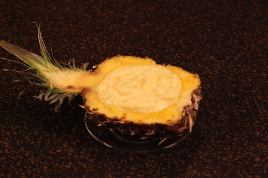 Serve the Pina Colada Dip in a Pineapple Boat