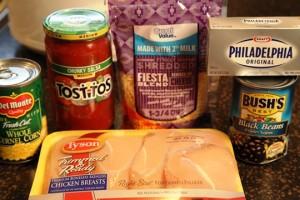 Fiesta Crockpot Chicken Ingredients