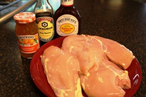 Ingredients for Crockpot Orange Chicken