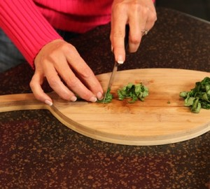 The Slices of Fresh Basil Will Create Thin Ribbons