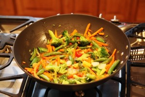 Stir Fry Vegetables in ManPan
