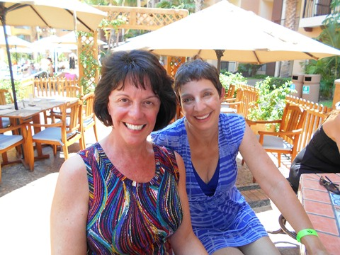 Vickie and Jodi at Cabo Cooking Class 2