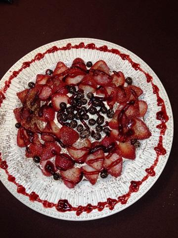 Fresh Strawberry Dessert Flower Is Sure to Please!