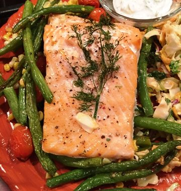 It's a Flash in the Pan…Roasted Salmon and Succotash